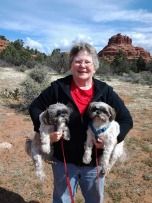 Cathy, Frick & Frack in Sedona